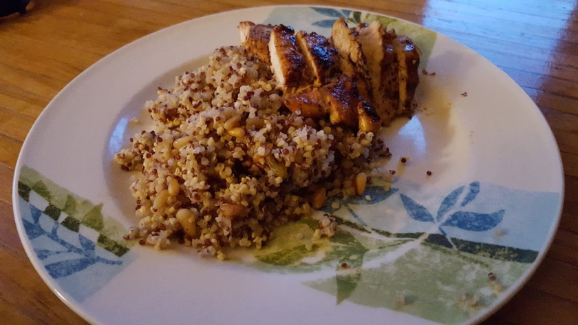 Ancient Grains with honey balsamic chicekn