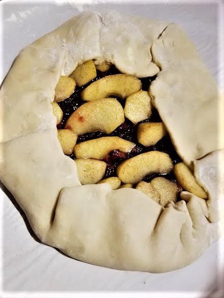 apple cranberry galette5