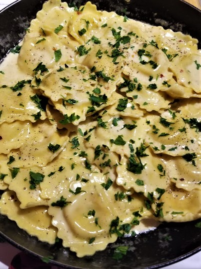 lobster ravioli with butter sauce7